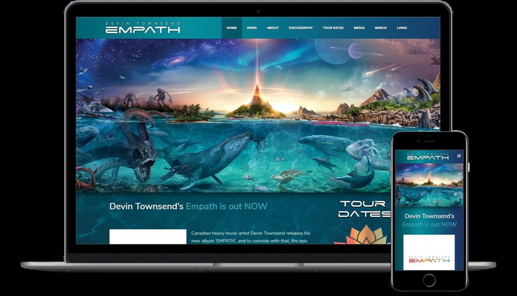 Devin Townsend Website WordPress Development