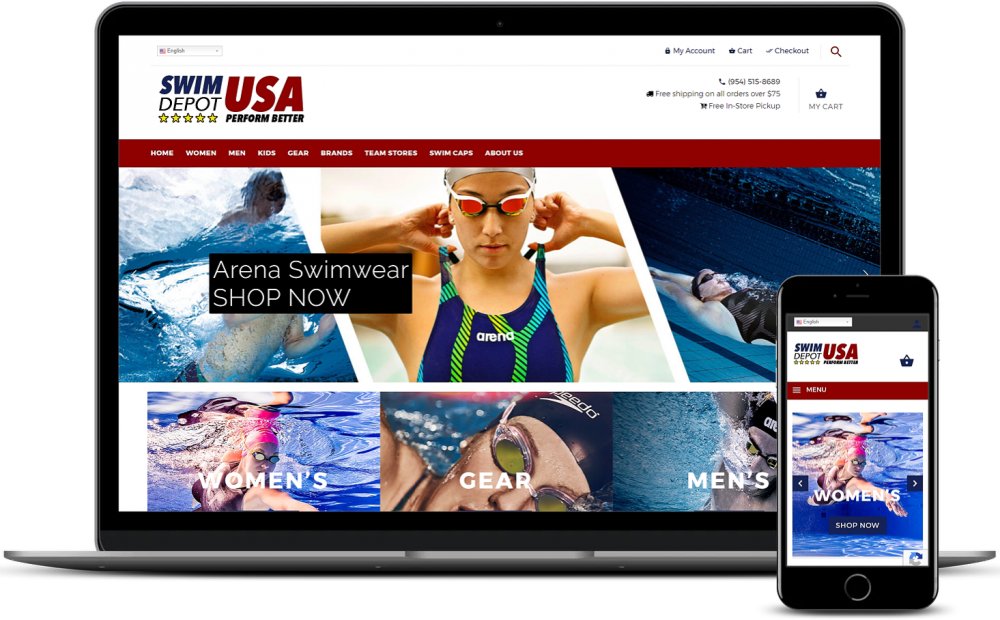 SwimDepot USA WooCommerce development