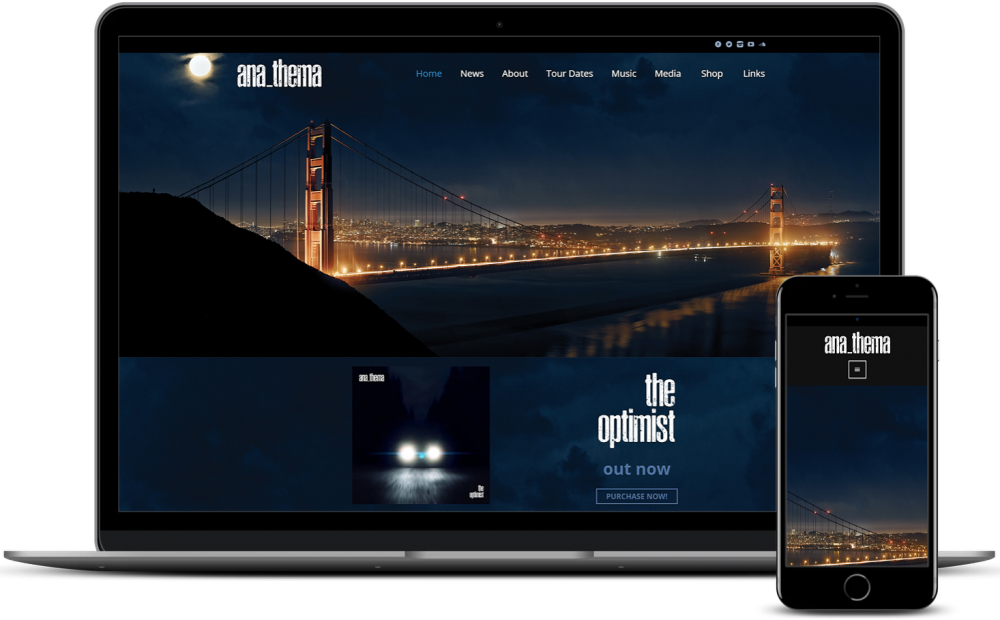 Wordpress Development for Anathema UK Band